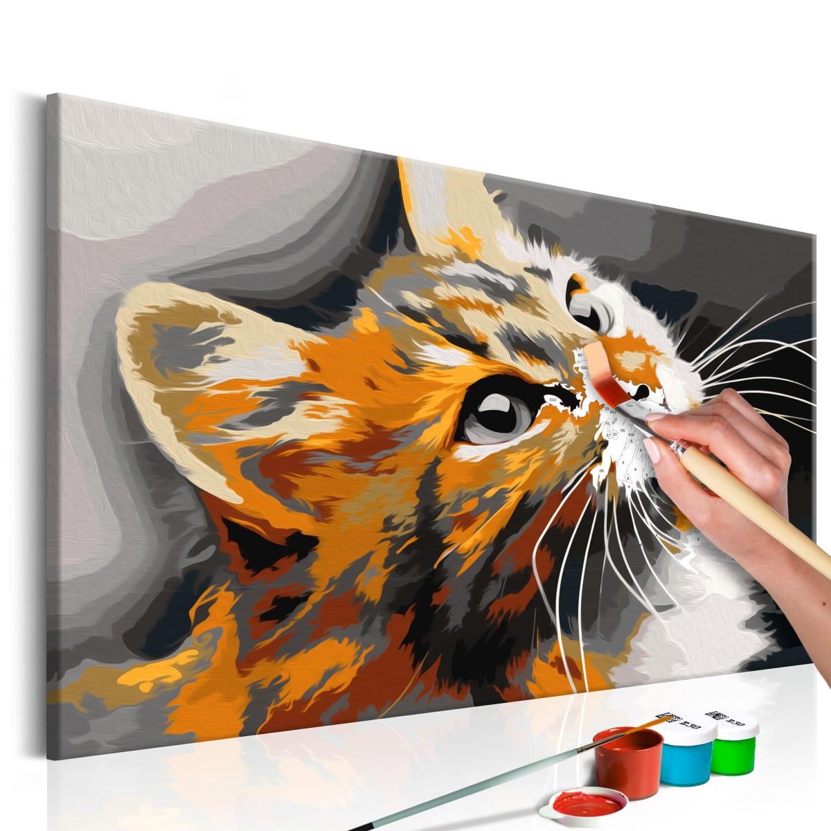 Obraz Do Samodzielnego Malowania Rudy Kot Deconest